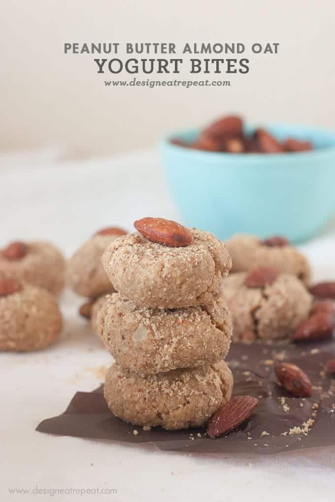 Peanut Butter Almond Oat Yogurt Bites (No flour, No Butter Cookies)