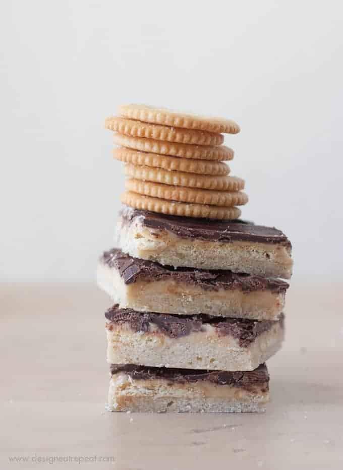 Peanut Butter Creme Shortbread Layered Crunch Bars