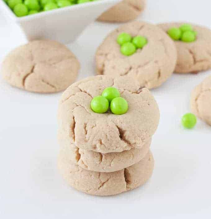 Shamrock Peanut Butter St. Patrick's Day Cookies