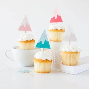Print off these free Sprinkle covered trees for a cute holiday cupcake topper! Designed by Melissa of Design Eat Repeat!