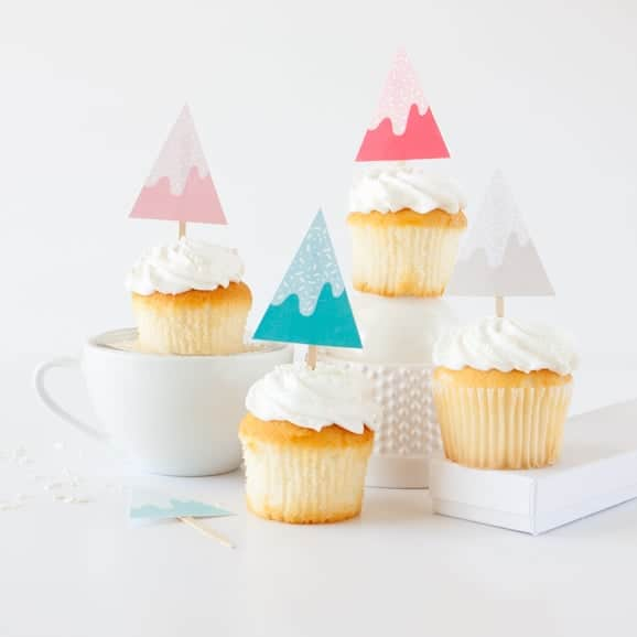 Sprinkle Tree Holiday Cupcake Toppers