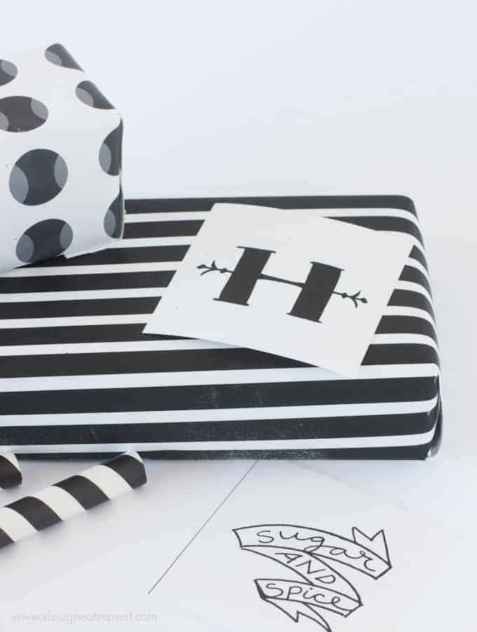 Printable Black & White (for Halloween) Gift Wrap