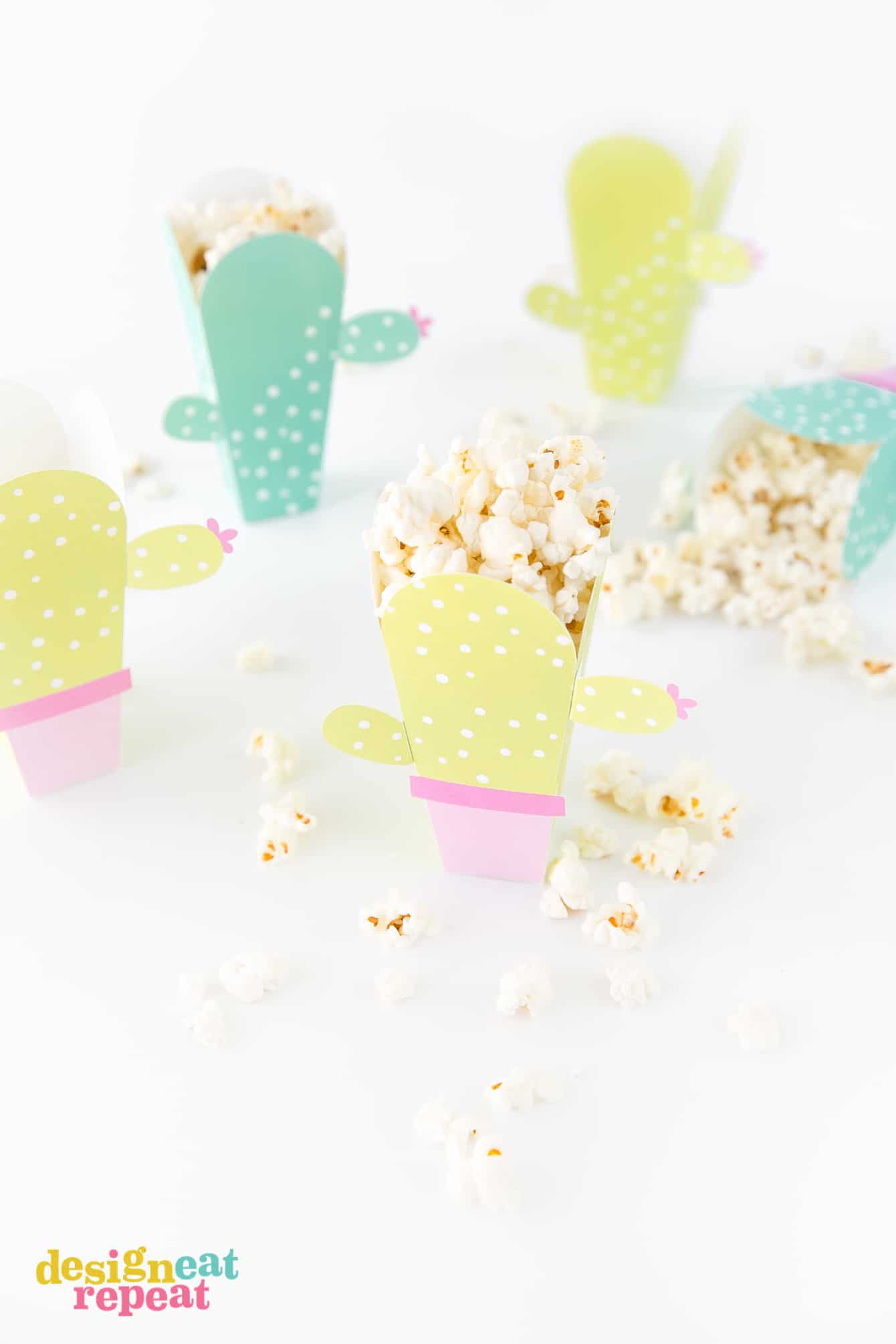 photo about Printable Popcorn Template identified as Printable Cactus Popcorn Box Template - Layout Consume Repeat
