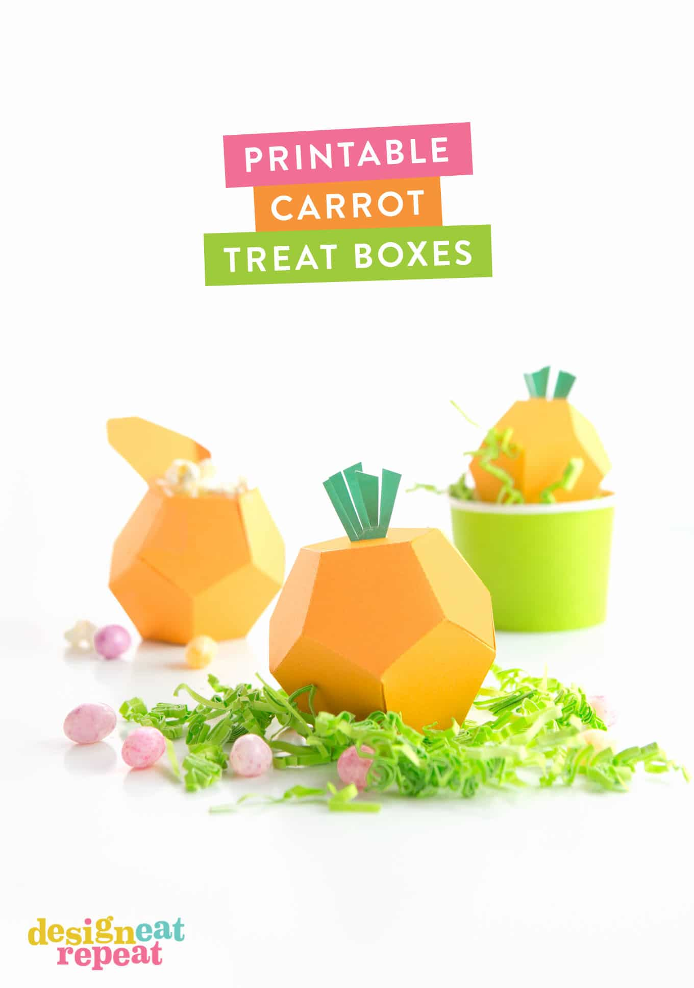 picture about Carrot Printable identified as Printable Carrot Take care of Packing containers