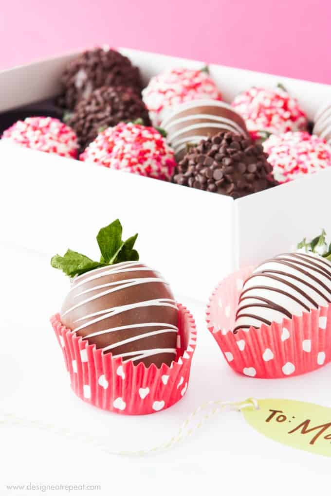 Printable Chocolate Covered Strawberry Valentine's Day Gift Boxes!