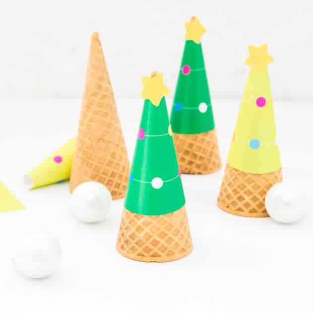 Printable Christmas Tree Ice Cream...