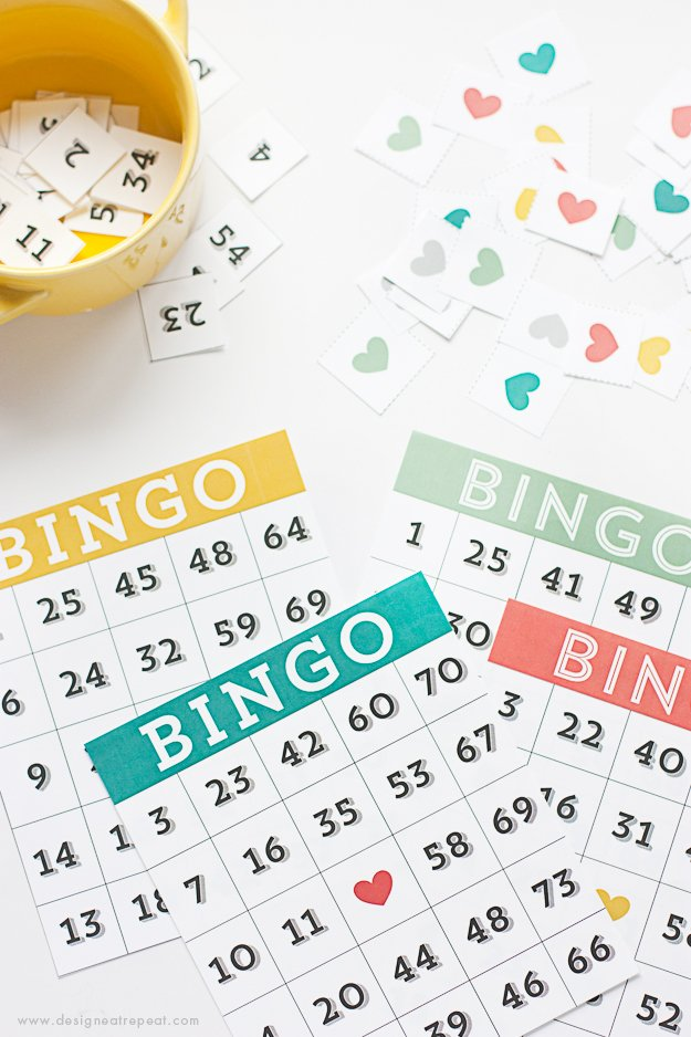 picture relating to Printable Bingo Cards 1-75 called Printable Bingo Playing cards - Activity Night time Notion! - Design and style Try to eat Repeat