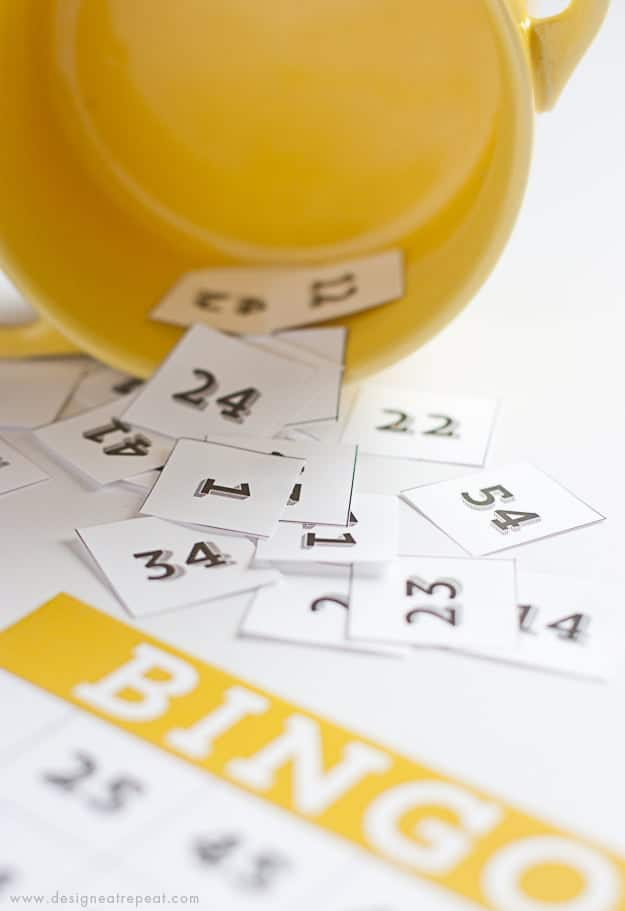 Printable & Cute Bingo Cards - Free Download over at Design Eat Repeat!