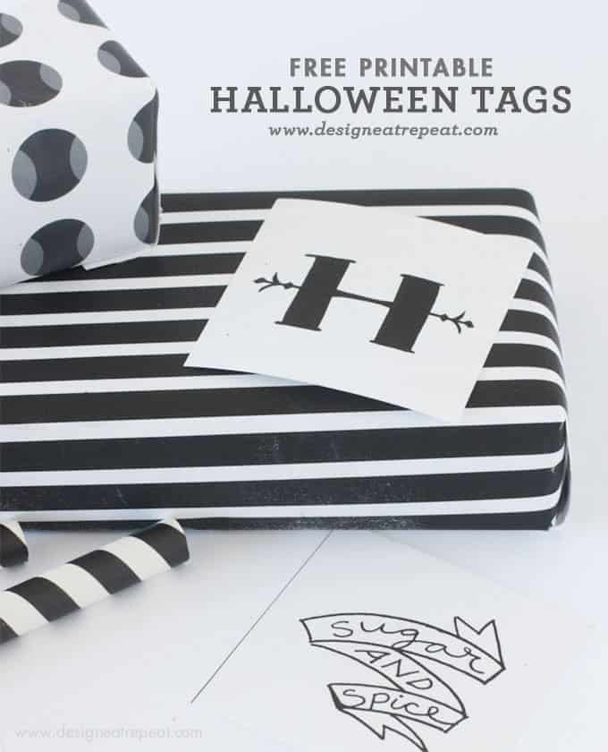 photograph about Free Printable Halloween Labels named Printable Halloween Tags and Labels
