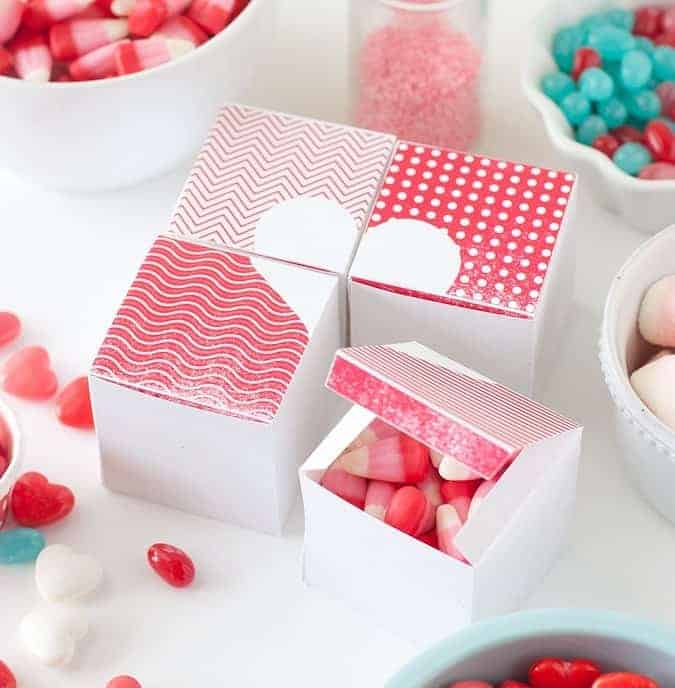 Free Valentines Treat Boxes Printable
