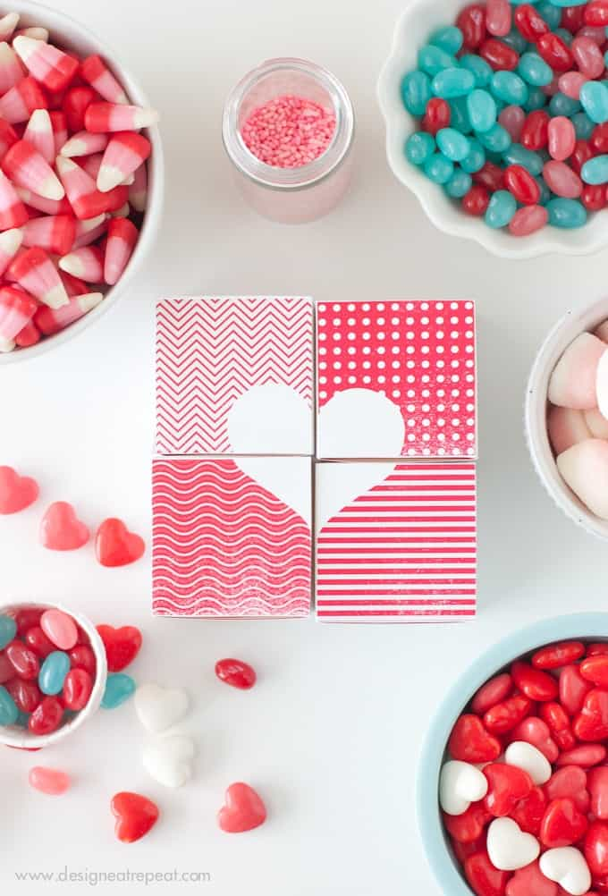 Printable Valentine Heart Treat Boxes by Design Eat Repeat