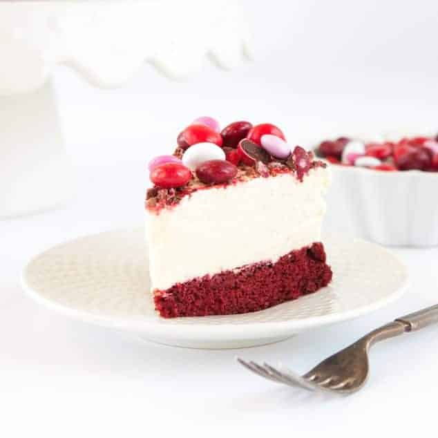 M&M's® Frozen Red Velvet Cheesecake