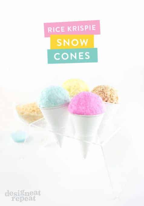 Turn a old school treat into candy coated Rice Krispies Snow Cones!