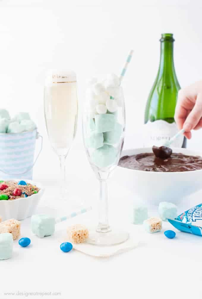 Rice Krispy Fondue Party