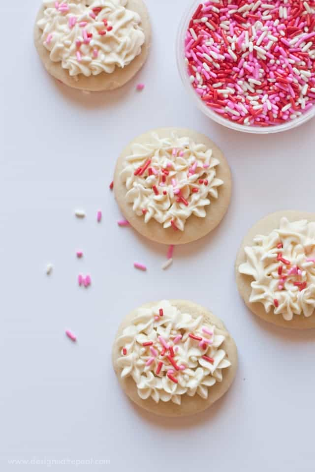 Soft Valentine's Day Cut Out Sugar Cookies | Design Eat Repeat