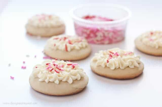 Soft Valentine's Day Sugar Cookies | Design Eat Repeat