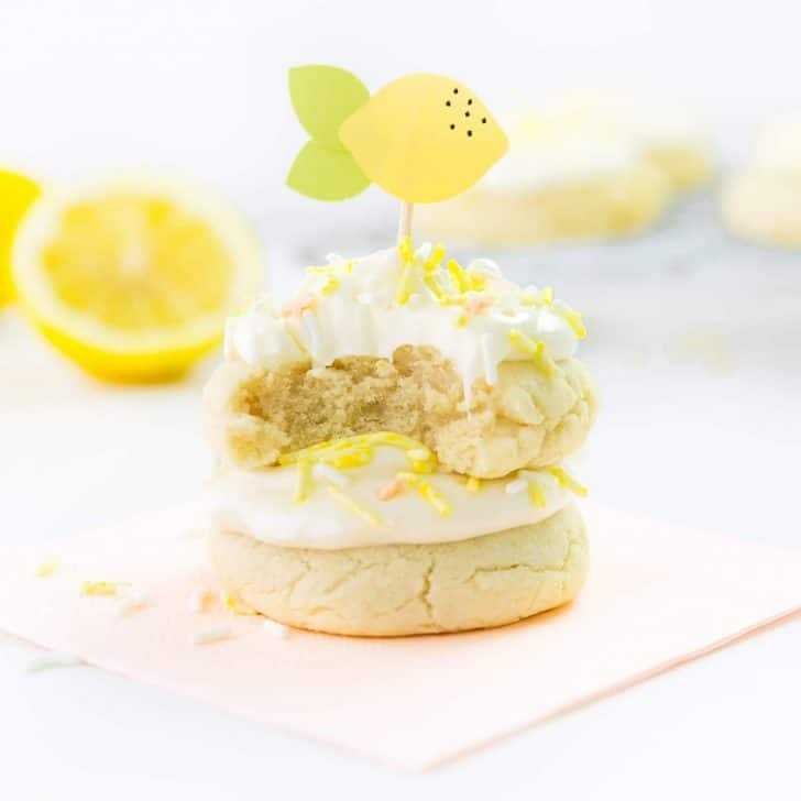 Soft & Thick Lemon Sugar Cookies (+ Video!)