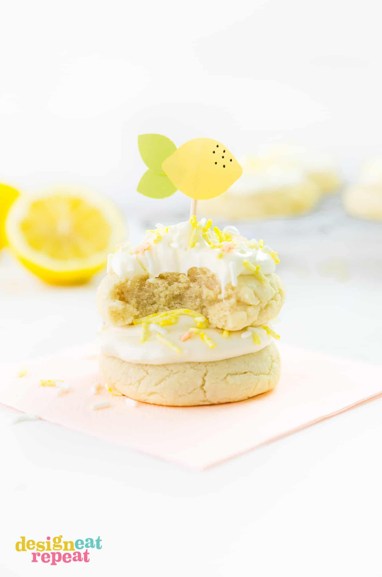 Treat yourself to one of these delicious Soft & Thick Lemon Sugar Cookies. They are easy to make and are infused with a refreshing, light lemon flavor!
