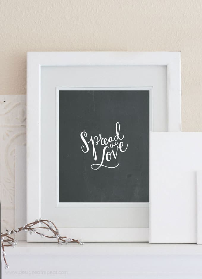 Spread the Love Free Printable Wall Art