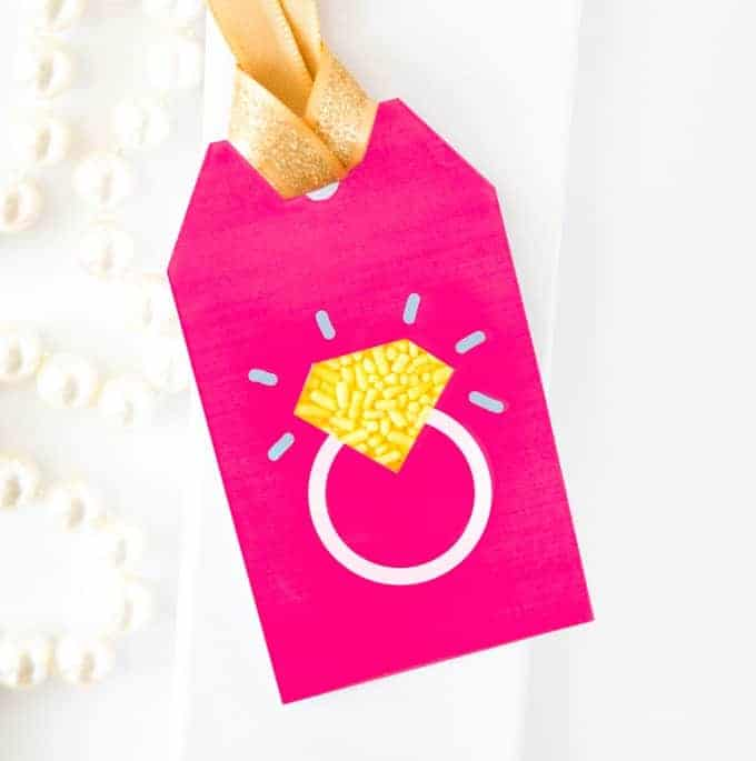 Sprinkle Ring Wedding Gift Tag