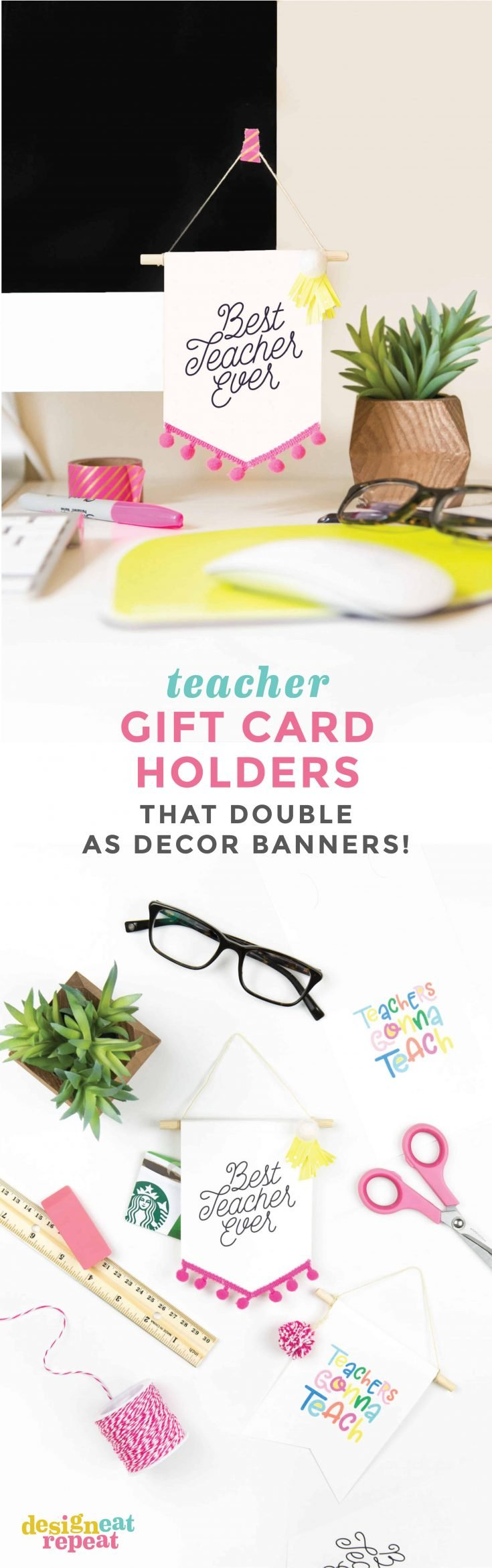 Teacher Gift Card Holders That Double As Adorable Banner Decor!