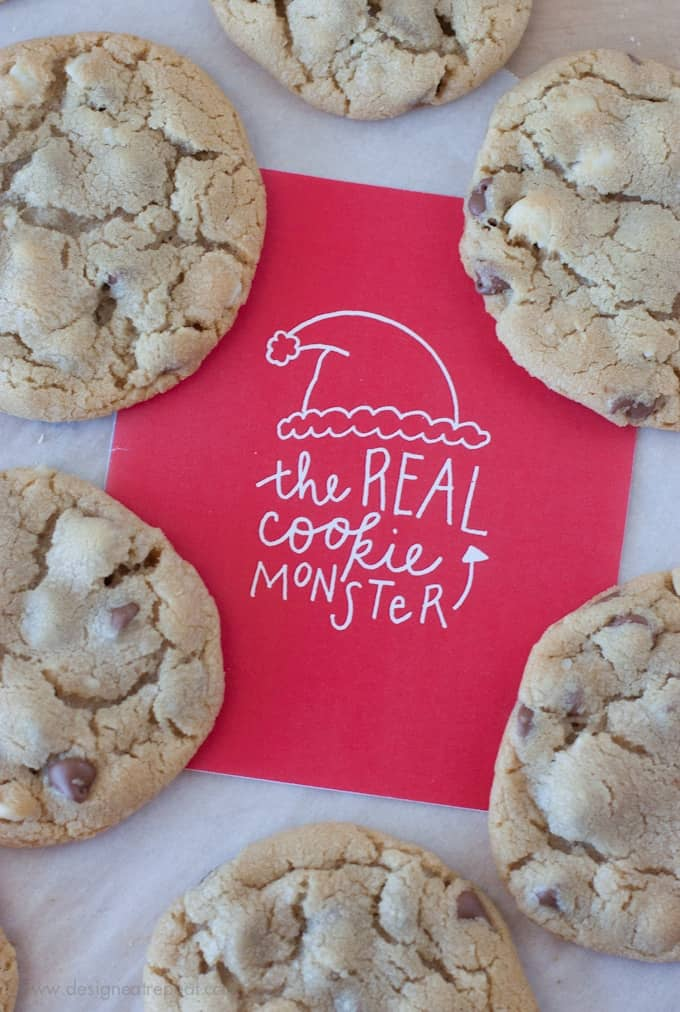 The Real Cookie Monster - Free Printable Christmas Card