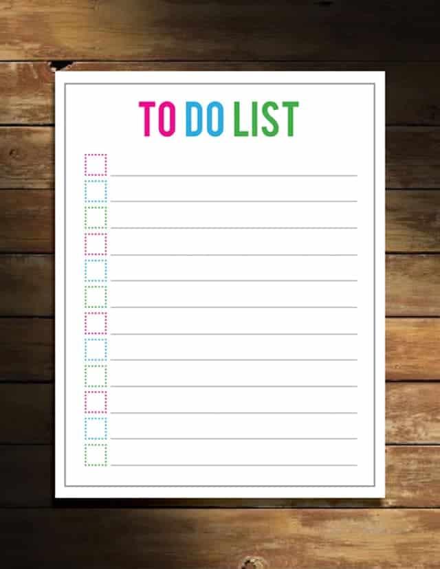 Free To-Do List Printable!