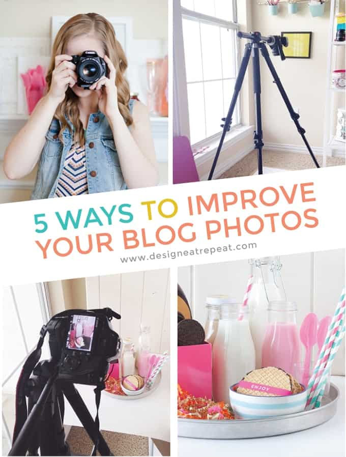 Get a behind-the-scenes look into a blogger's photo set up! This article includes tips & tools from food & DIY blogger, Melissa at Design Eat Repeat. She talks about everything from cameras, backdrops, and editing software. Very helpful!