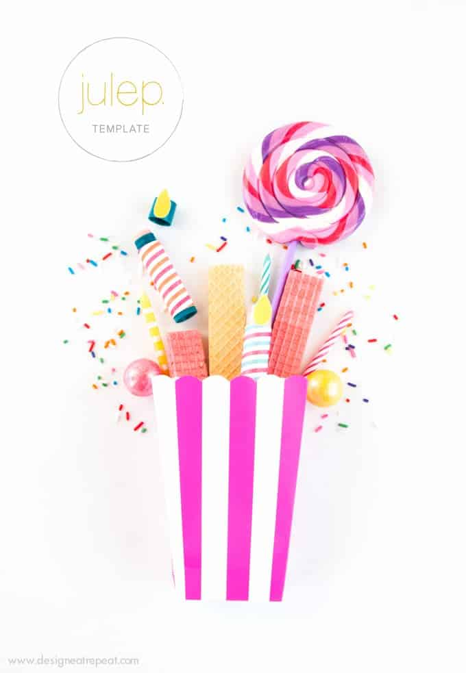 Turn Lip Balms into birthday candles with these fun party favor printables by Design Eat Repeat!