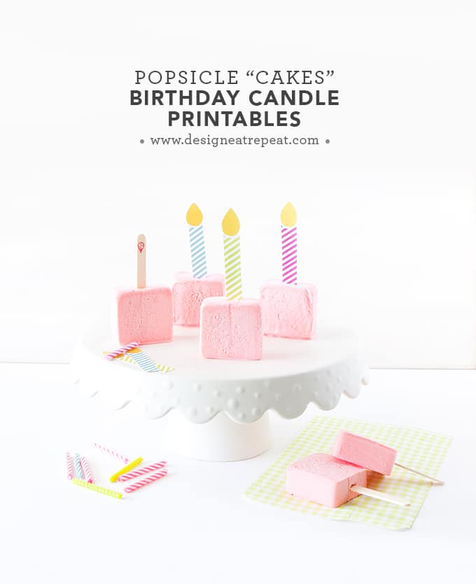 image about Birthday Candle Printable identified as Mini Popsicle Cakes Birthday Deal with Thought - Style and design Consume Repeat