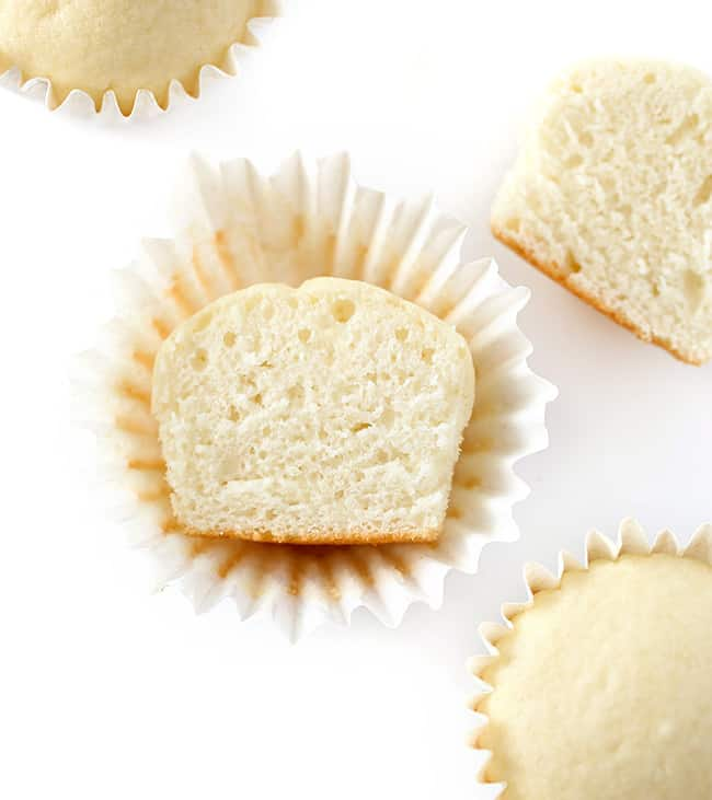 Inside texture for white wedding cupcakes