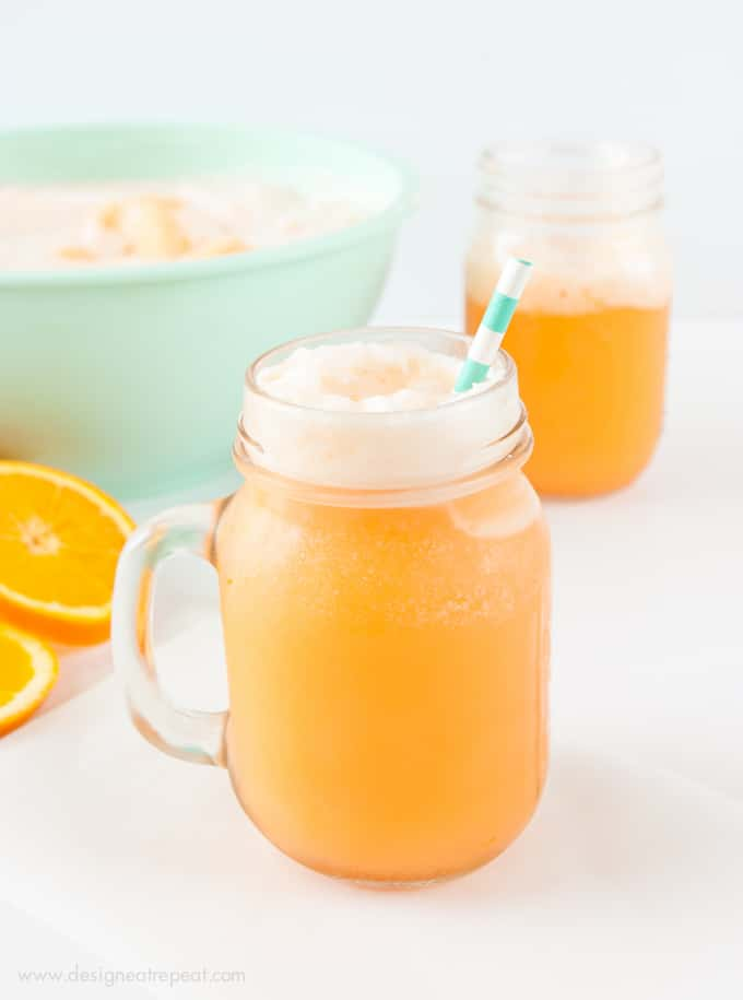 Orange Sherbet Punch in less than 15 minutes! I love sherbet punch ...