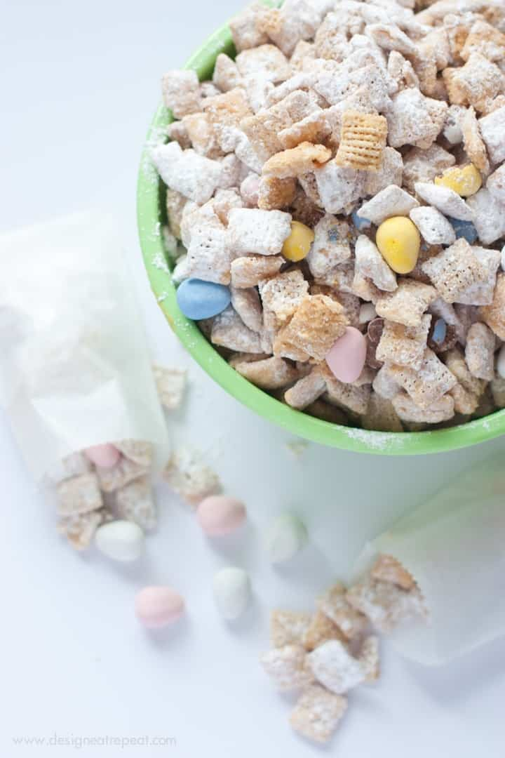 White Chocolate Puppy Chow with Cadbury Mini Eggs-3