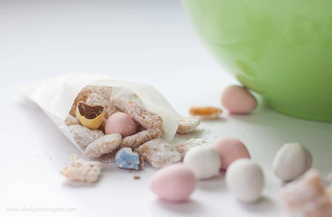 White Chocolate Puppy Chow with Cadbury Mini Eggs-4
