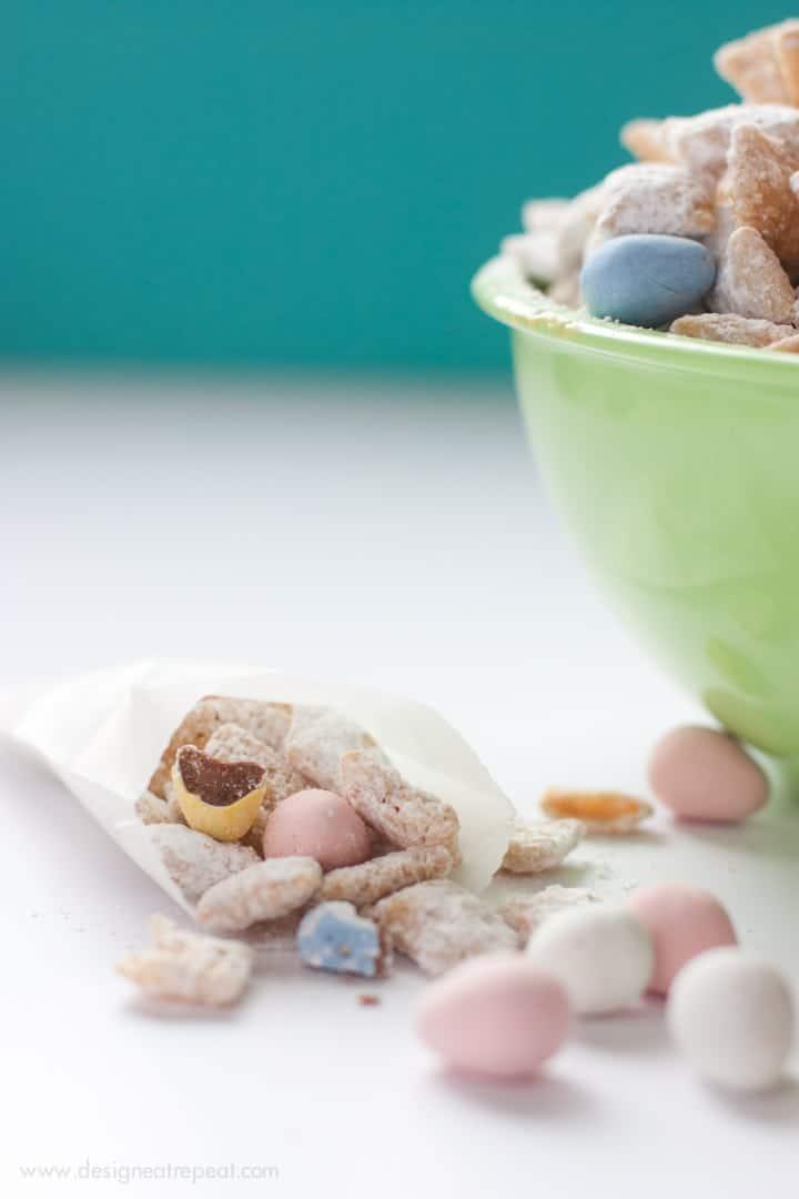 White Chocolate Puppy Chow with Cadbury Mini Eggs-5