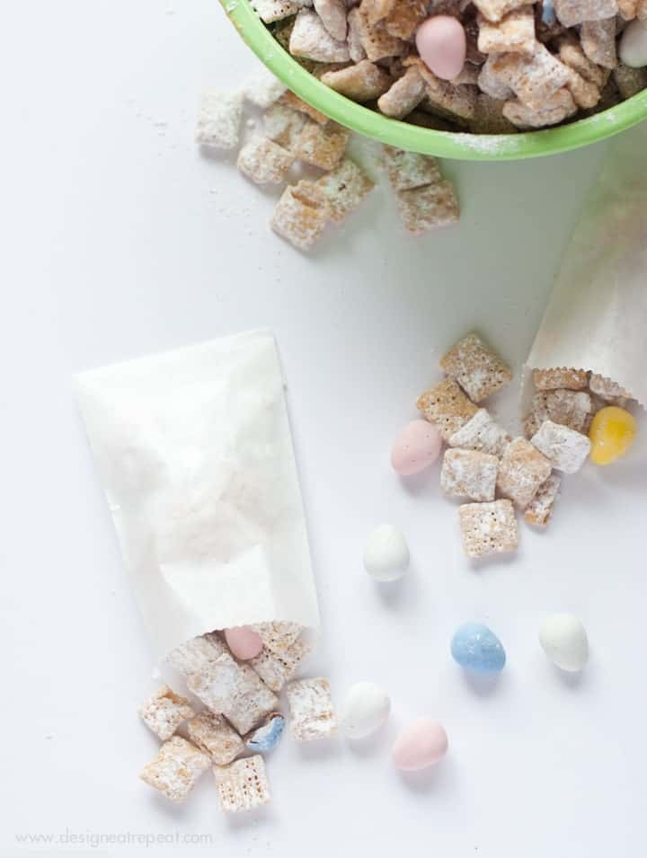 White Chocolate Puppy Chow with Cadbury Mini Eggs-7