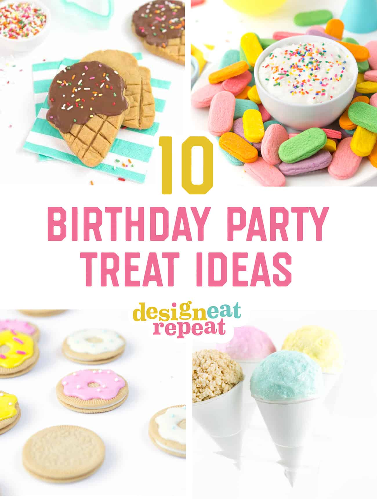 10 Easy and Adorable Birthday Party Treats