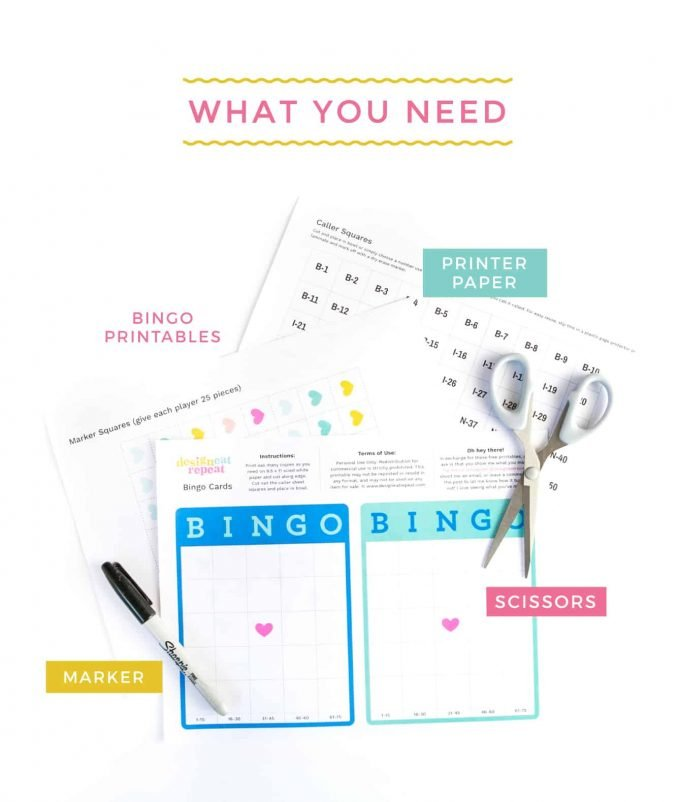 Free Printable Blank Bingo Cards  Design Eat Repeat