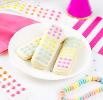 Candy Button Cookie Sticks