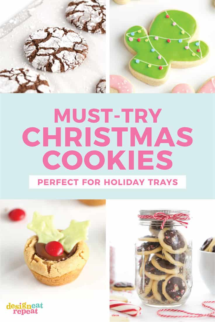 Put together the perfect holiday cookie tray with these soft & moist Christmas cookie recipes! From peanut butter to chocolate, I've got you covered with five of my family's favorite cookie recipes! Say goodbye to the dry, hard cookie trays and say hello to these irresistible crowd favorites!