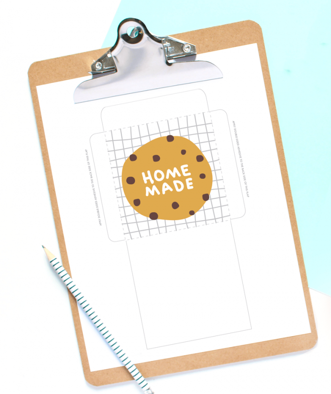 Printable template for cookie bags