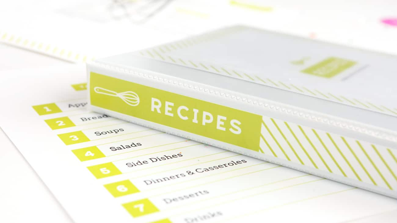 graphic regarding Printable Recipe Book Cover identify Do-it-yourself Recipe E book (with Cost-free Printable Recipe Binder Package!)