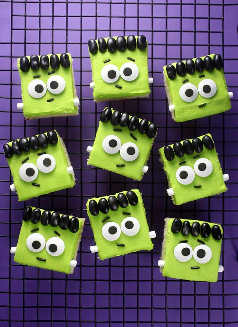 Frankenstein Cake Squares