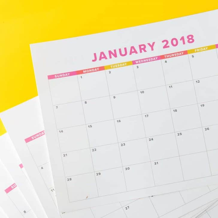 free 2019 monthly calendar printable design eat repeat