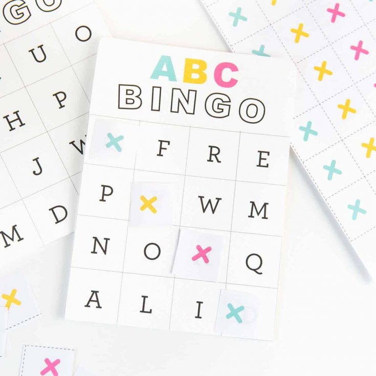image relating to Printable Alphabet Cards identify Cost-free Printable Alphabet Bingo - Style and design Take in Repeat