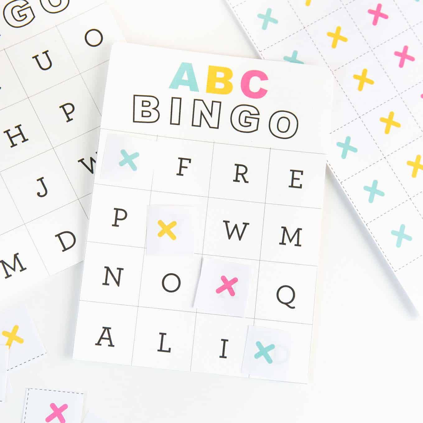 photo regarding Alphabet Line Printable called Free of charge Printable Alphabet Bingo - Style Take in Repeat