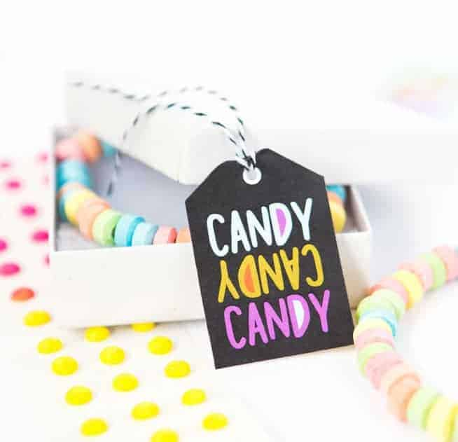 Whether you're putting together last-minute party favors, birthday gifts, or teacher gifts - these free printable gift tags are here to help you whip up an adorable, personalized treat box or bag without even leaving your house!