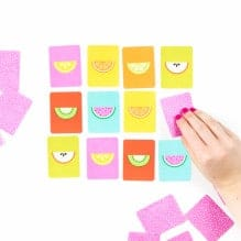 Fruit Slice Printable Memory Game