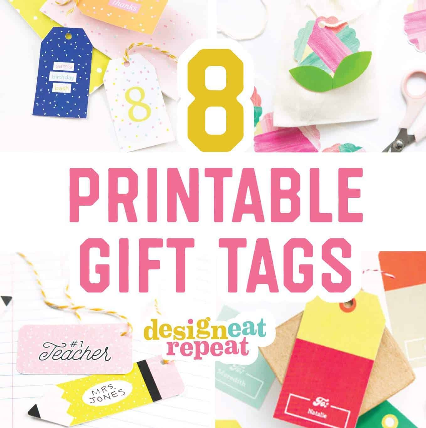 8 Colorful Free Printable Gift Tags For Any Occasion