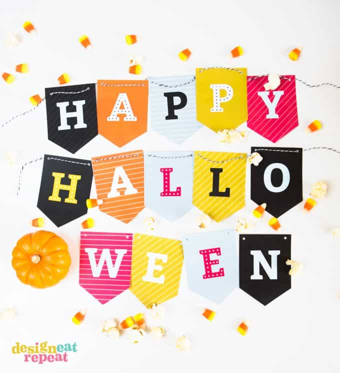 graphic relating to Free Halloween Printable named No cost Printable Halloween Banner